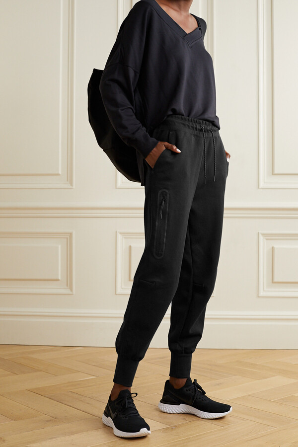 Thumbnail for your product : Nike Cotton-blend Jersey Track Pants - Black