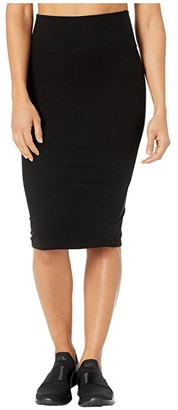YEAR OF OURS Rib Saturday Skirt (Black) Women's Skirt