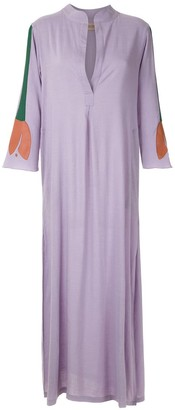 Adriana Degreas Tulip Applique Maxi Kaftan