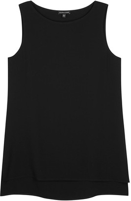 Eileen Fisher System Black Silk Crepe Top