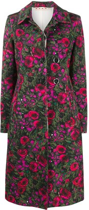 Marni Floral Print Tailored Coat