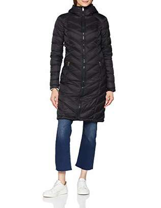 Fat Face Women's Louisa Longline Puffer Coat, (True Black Blk)
