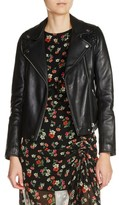Maje Women's Braided Shoulder Leather Jacket