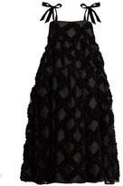 Cecilie Bahnsen - Bey Floral-applique Silk-organza Midi Dress - Womens - Black