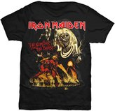Global Iron Maiden Men's Number Of The Beast T-shirt Large Black