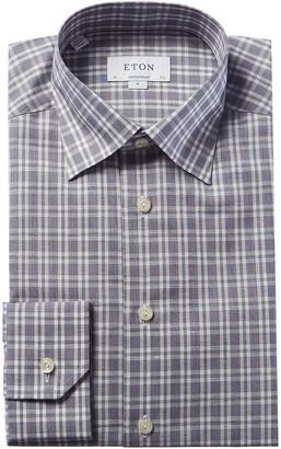 Eton Linen-Blend Contemporary Fit Dress Shirt