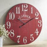 Pier 1 Imports Oversize Red Gather Wall Clock