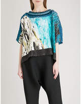 Issey Miyake Landscape-print pleated top