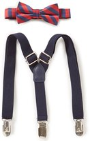Starting Out Baby Boys Striped Bow Tie & Suspenders Set