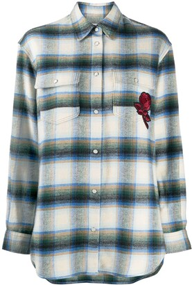 Golden Goose Allison plaid-pattern shirt