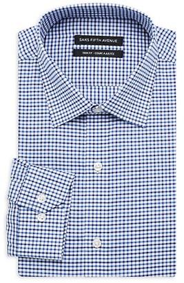 Saks Fifth Avenue Trim-Fit Check Dress Shirt