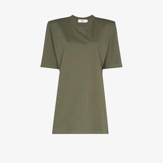 Frankie Shop Sean padded shoulder mini dress