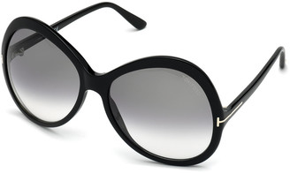 Tom Ford Rose Gradient Acetate Round Sunglasses