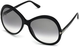Tom Ford Rose Gradient Acetate Round Sunglasses