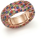 Bloomingdale's Multi Sapphire and Tsavorite Eternity Band in 18K Rose Gold - 100% Exclusive