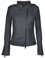 Dacute Zipped Leather Jacket