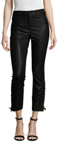 Blank NYC Faux Leather Lace Up Cropped Pant