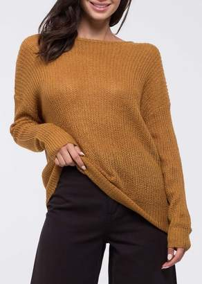 Blu Pepper Back Twist Sweater