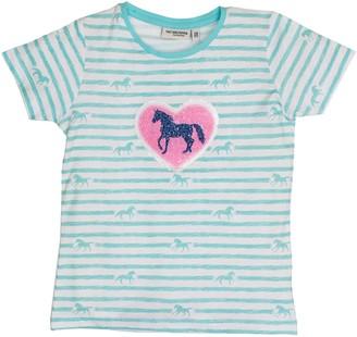 Salt&Pepper Salt and Pepper Girl's T-Shirt Horses Stripes Sequins
