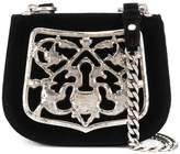 Prada Piastra Metal Filigree Key Lock cross-body bag