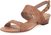 Sesto Meucci Gemmy Woven Leather Sandal, Neutral
