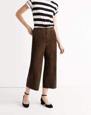 Madewell Suede Culotte Pants
