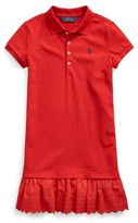 Ralph Lauren Eyelet Stretch Mesh Polo Dress