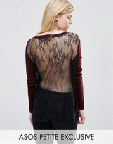 Asos Sweater with Lace Back and Hem