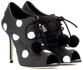 Dolce & Gabbana Polka-dotted peep-toe ankle boots