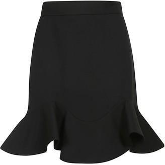 Alexander McQueen Back Zip Short Skirt