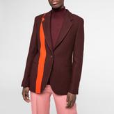 Paul Smith Women's Damson Dogtooth Wool Blazer