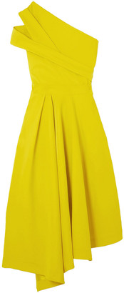 Preen by Thornton Bregazzi Danica Asymmetric Pleated Stretch-crepe Dress