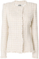 Alexander McQueen tweed jacket - women - Silk/Cotton/Acrylic/glass - 38