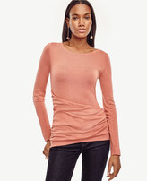 Ann Taylor Draped Extrafine Merino Wool Sweater