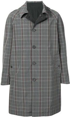 Lanvin checked single-breasted coat