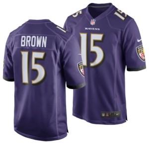 Nike Men's Marquise Brown Baltimore Ravens Game Jersey