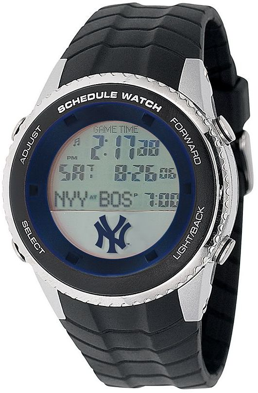 New York Yankees Game time stainless steel digital schedule watch - men
