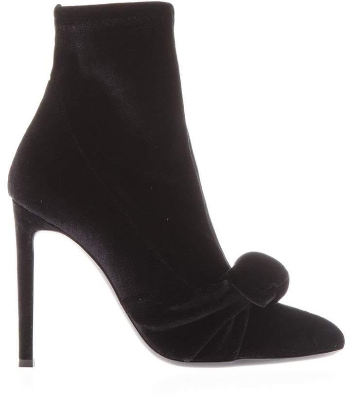 Giuseppe Zanotti Sock Velvet Ankle Boots