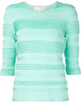 Christian Siriano striped knit top - women - Polyester/Spandex/Elastane - 12