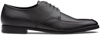 Prada square toe Derby shoes