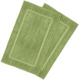 Ringspun Utopia Towels 21-Inch-by-34-Inch Cotton Washable Bath Mat, 2 Pack, Sage Green