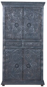 Bungalow Rose Teo High Armoire Color: Vintage Gray