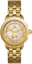 Tory Burch Women's Swiss Tory Classic Gold-Tone Stainless Steel Bracelet Watch 37mm TB1026