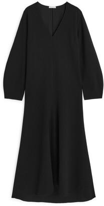 Arket Fluted Crepe Dress