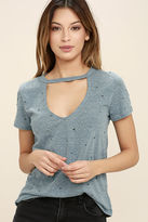 LuLu*s Do You Blush Pink Distressed Tee