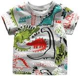 Koupa Little Boys & Girls Short Sleeve Dinosaur Tops KP-T2038(T,)