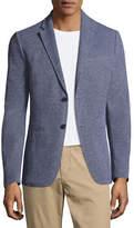 Michael Kors Birdseye Knit Two-Button Blazer