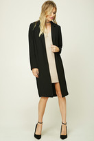 Forever 21 FOREVER 21+ Contemporary Longline Coat