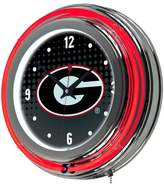 NCAA Chrome Double Rung Neon Clock - Reflection