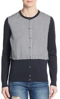 Marc by Marc Jacobs Gingham & Knit Cardigan